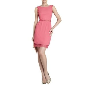 BCBG MAXAZRIA Maud Boatneck Dress With Lace #334